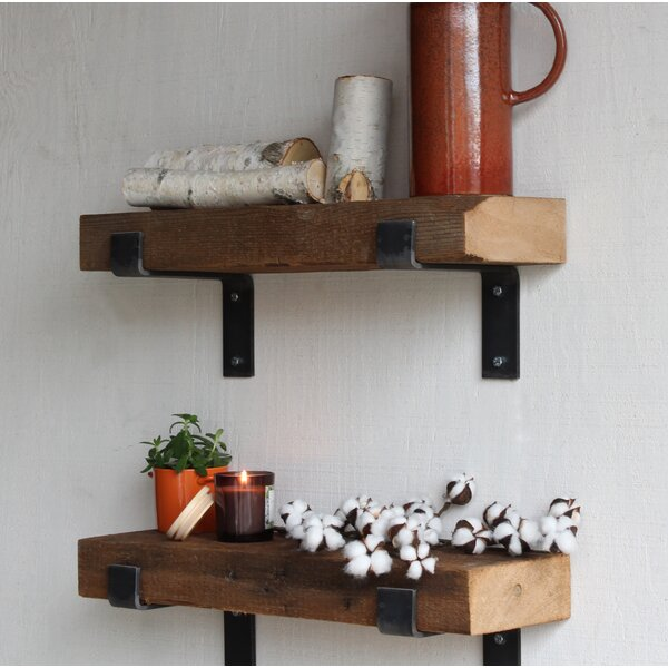 Buckelew Made Chunky Reclaimed Barn Wood Wall Shelf (Set of 2) by Williston Forge