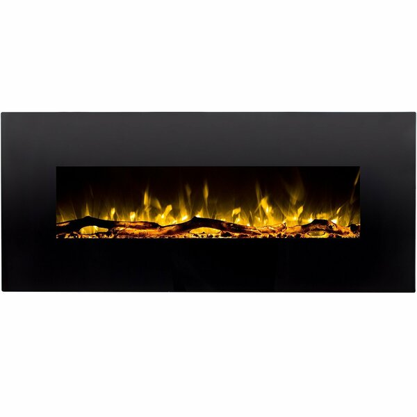 Depasquale Wall Mounted Electric Fireplace by Wrought Studio