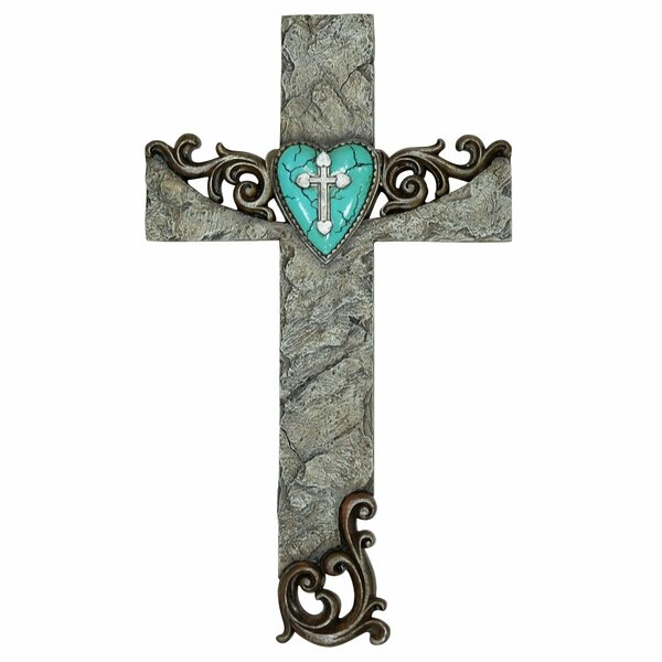 Alvarez Stone Cross With Heart Accent By Millwood Pines by Millwood Pines Herry Up