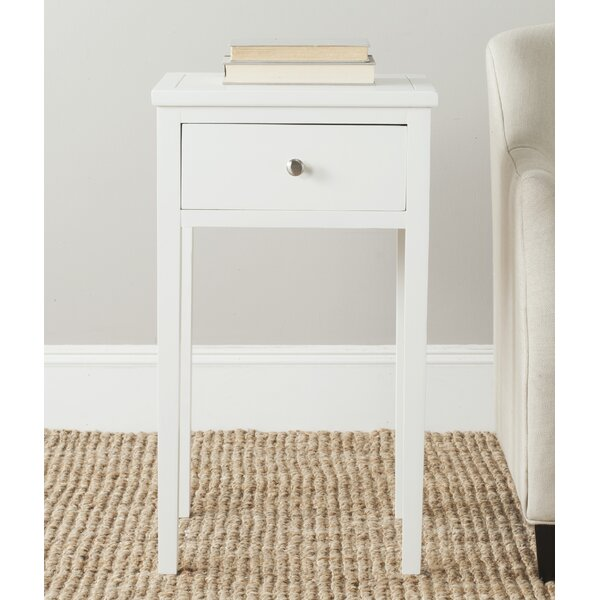 Emilie End Table With Storage By Ophelia & Co. New