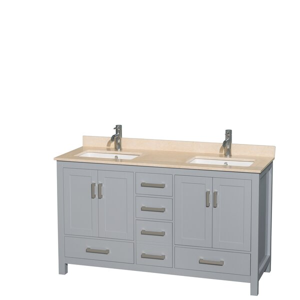 Sheffield 60 Double Bathroom Vanity Set by Wyndham Collection