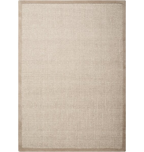 River Brook Hand-Tufted Taupe/Ivory Area Rug by Kathy Ireland Home