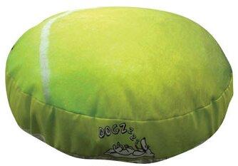 Round Tennis Ball Dog Pillow by Dogzzzz