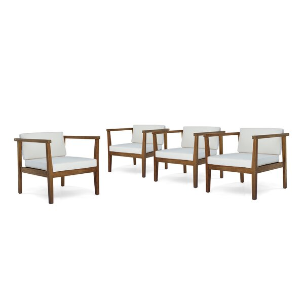 Wrens Teak Patio Chair (Set of 4) by Ivy Bronx
