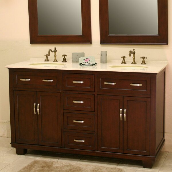 Bolton 60 Double Bathroom Vanity Set by B&I Direct Imports