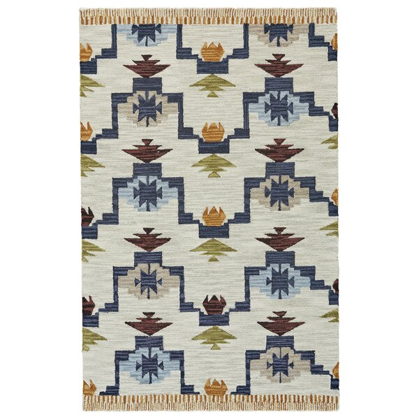 Pacifica Hand-tufted Blue/Ivory Area Rug by Bungalow Rose