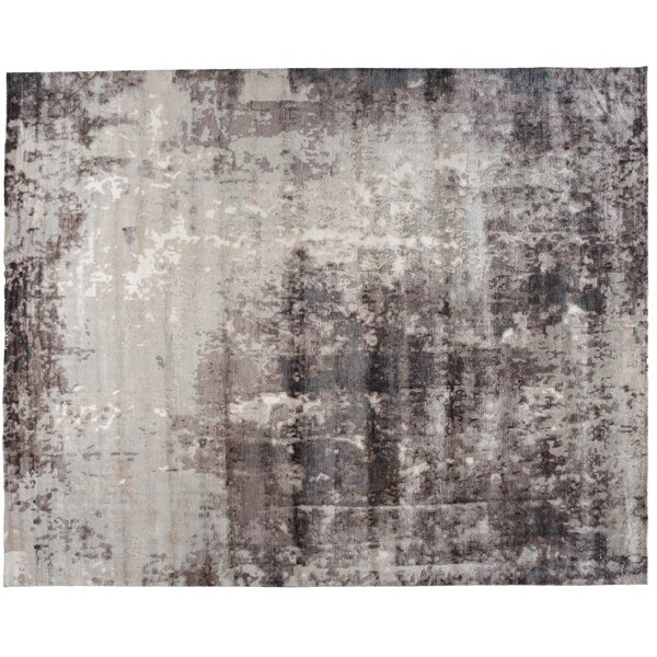 One-of-a-Kind Glover Hand-Knotted Brown/Gray 12' x 15' Cotton Area Rug