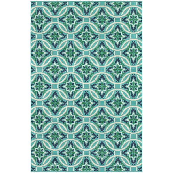 Kailani Contemporary Geometric Blue/Green Indoor/O