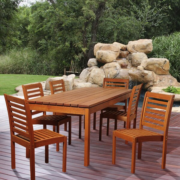 Deerfin 7 Piece Dining Set by Rosecliff Heights