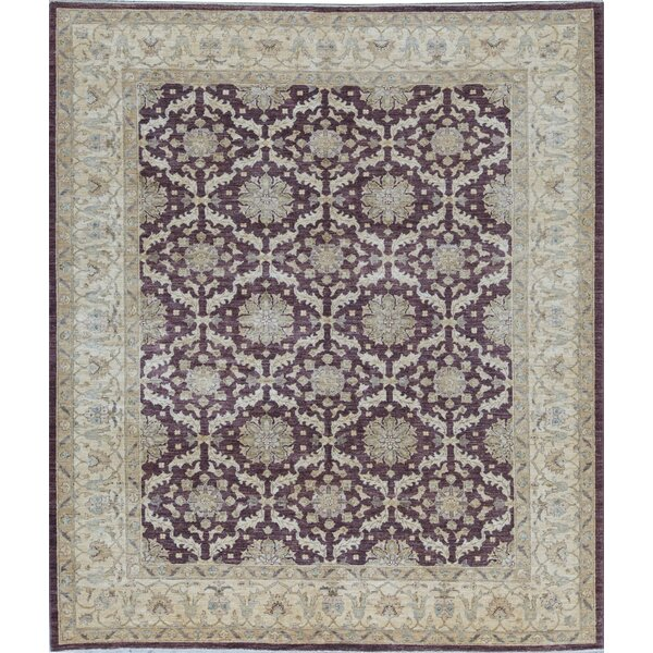 Ziegler Oriental Hand-Knotted Wool Brown/Beige Area Rug