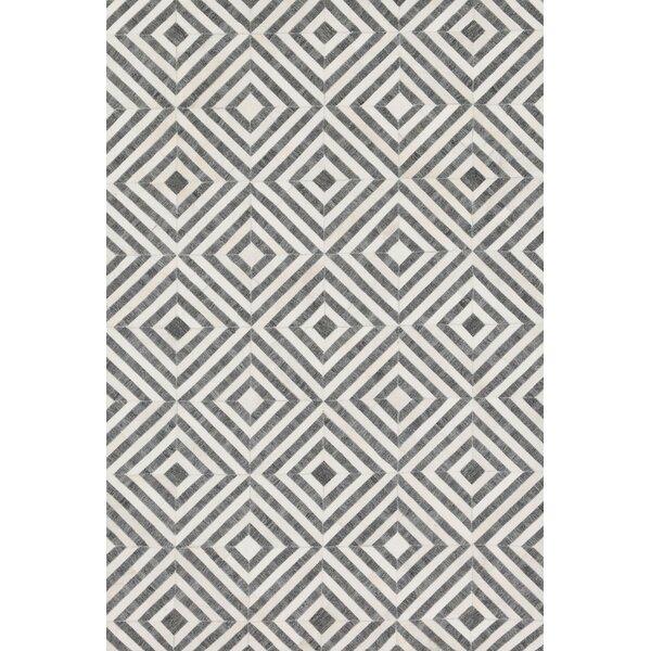 Winnett Hand-Woven Charcoal/Ivory Area Rug by Brayden Studio