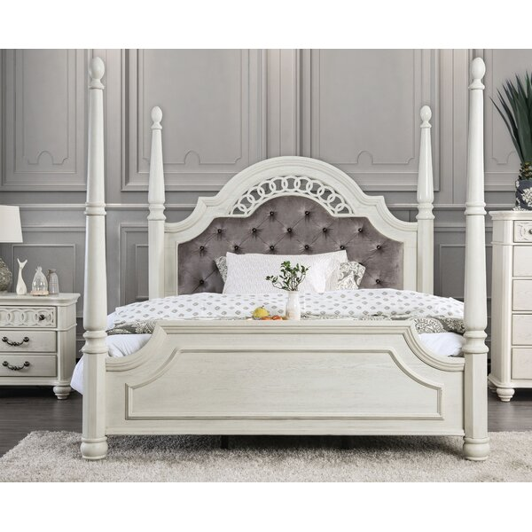 Aubrie Upholstered Four Poster Bed By Rosdorf Park