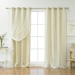Brockham Solid Blackout Thermal Grommet Curtain Panel Pair (Set Of 2)