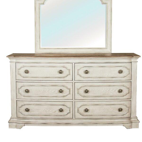 Castelnaud Tickmacrevan 6 Drawer Double Dresser by One Allium Way