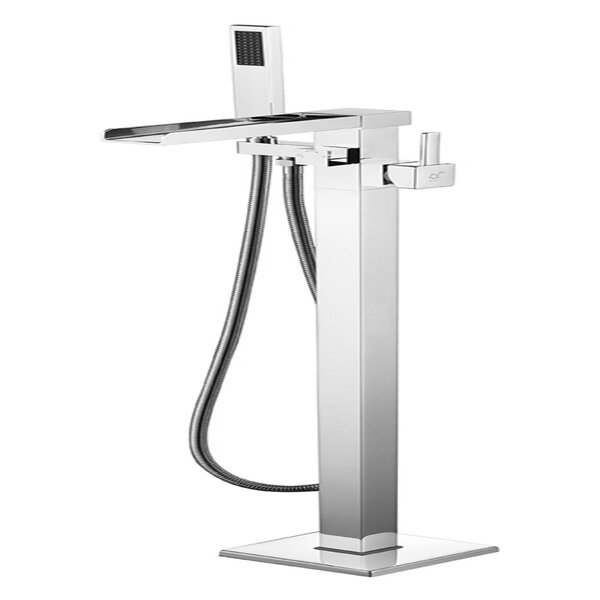 Union Double Handle Floor Mounted Clawfoot Tub Faucet with Hand Shower by ANZZI