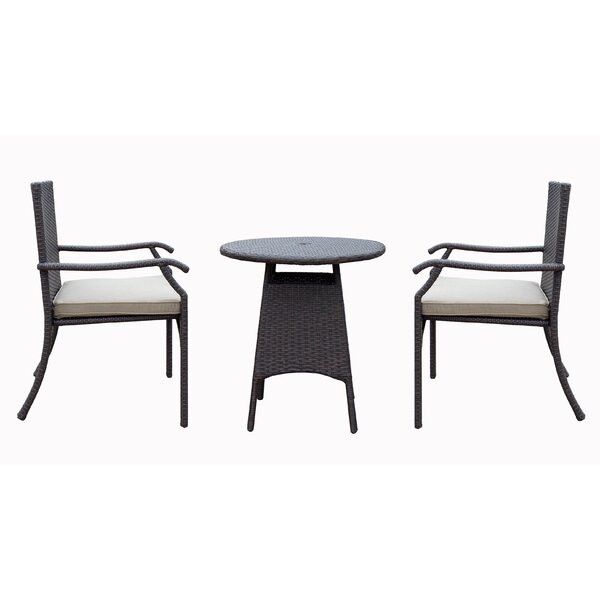 Azusa 3 Piece Dining Set with Cushion by Darby Home Co