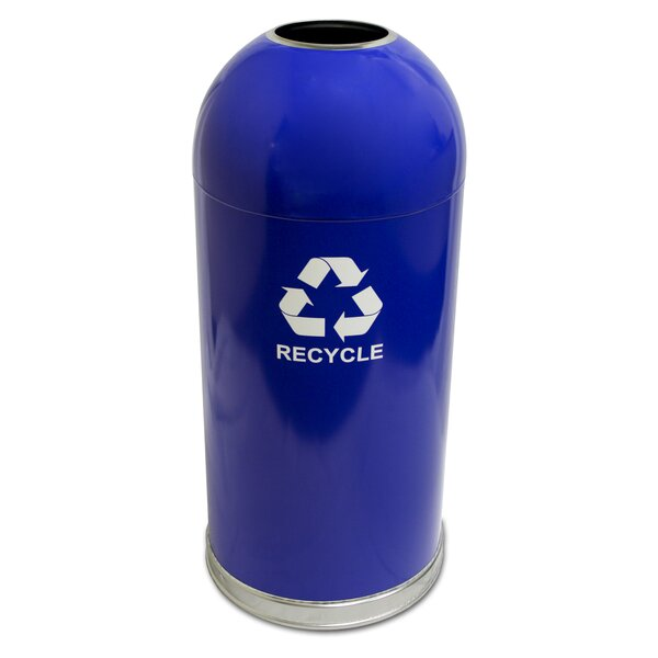 Dome Top 15 Gallon Recycling Bin by Witt