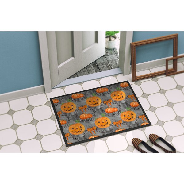 Precita Halloween Pumpkins Doormat by The Holiday Aisle