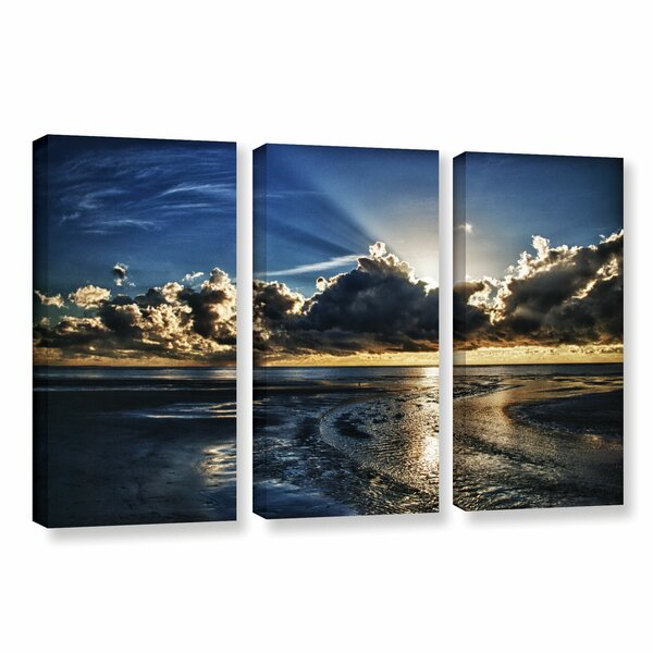 Atlantic Sunrise by Dan Wilson 3 Piece Photographic Print on Wrapped Canvas Set by ArtWall