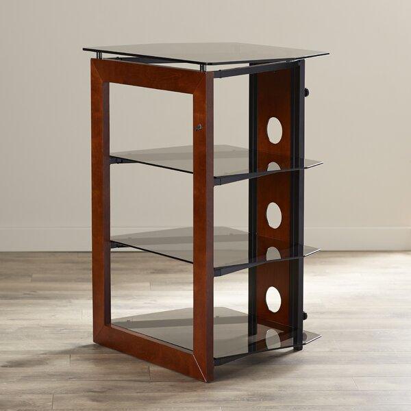 Modern Contemporary Wood Audio Rack By Latitude Run.