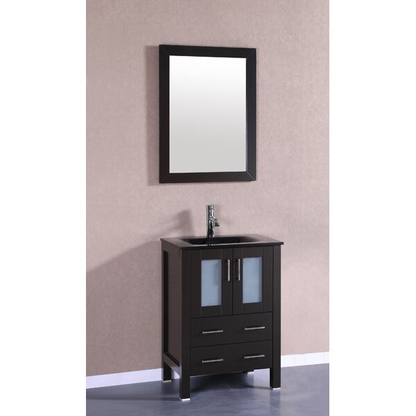 Nevitt 24 Single Bathroom Vanity Set with Mirror by Ebern Designs