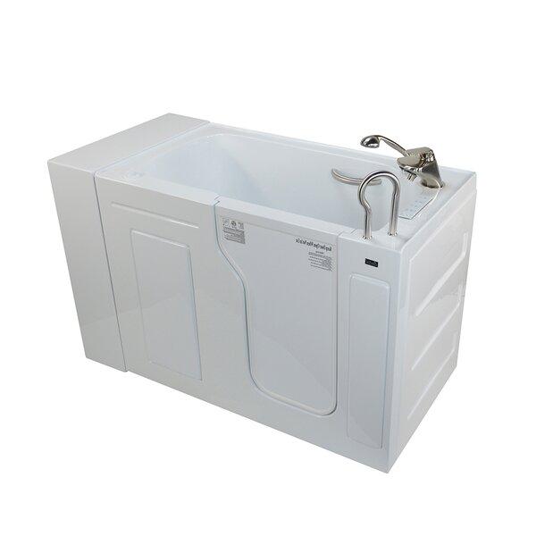 Fully Loaded Acrylic Dual Massage 29.5 x 51 Walk In Air/Whirlpool by Ella Walk In Baths