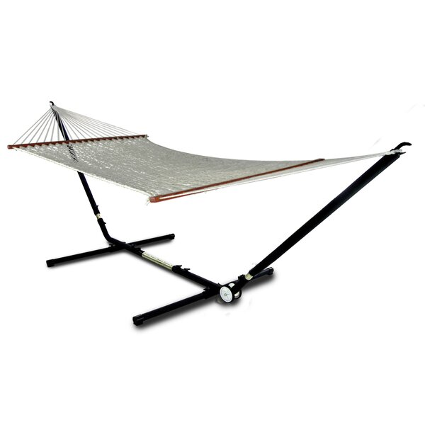 Heanor Adjust to Fit Double Tree Hammock with Stand by Freeport Park