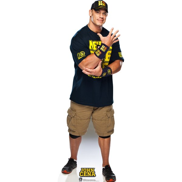 WWE John Cena Navy and Gold Shirt Cardboard Stand-Up by Advanced Graphics