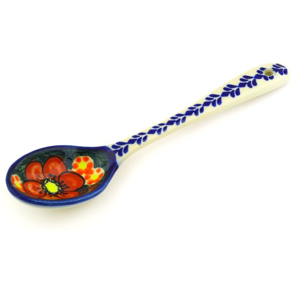 Rainbow Poppies Polish Pottery Teaspoon by Polmedia