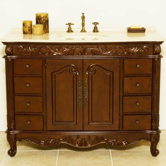 Wakefield 48 Single Bathroom Vanity Set by B&I Direct Imports