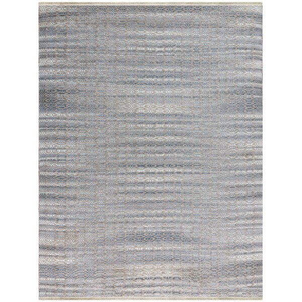 Bertrand Flat-Weave Sky Blue Area Rug By Bungalow Rose.