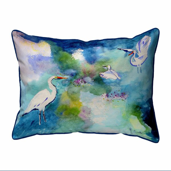 Kanter Three Egrets Zippered Indoor/Outdoor Lumbar Pillow