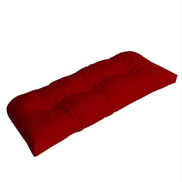 Wicker Indoor/Outdoor Sunbrella Bench Cushion by Comfort Classics Inc.