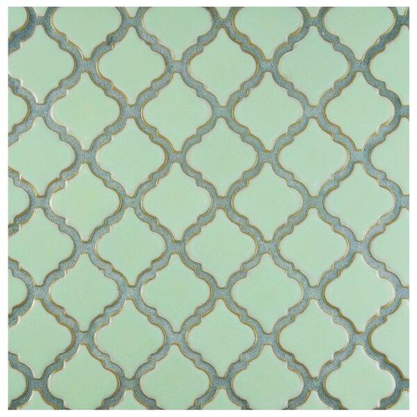 Pharsalia 2 x 2.25 Porcelain Mosaic Tile in Light Green by EliteTile