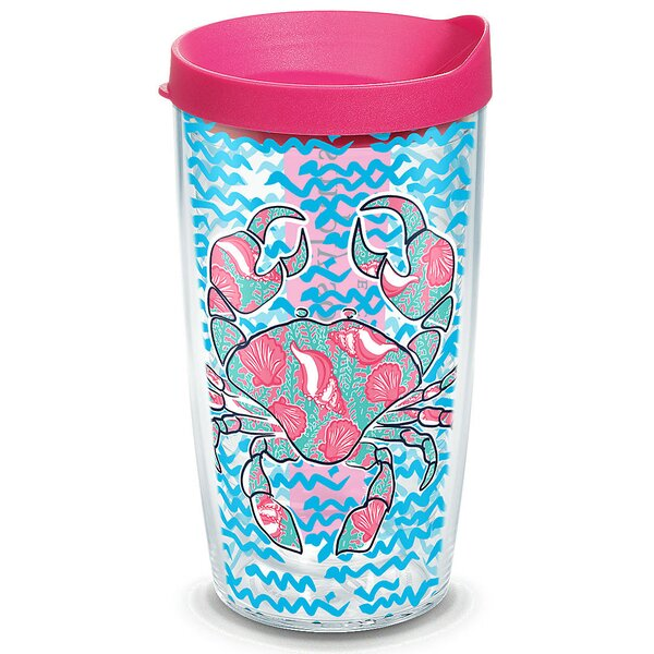 Simply Southern Crab Colossal 16 oz. Plastic Travel Tumbler by Tervis Tumbler