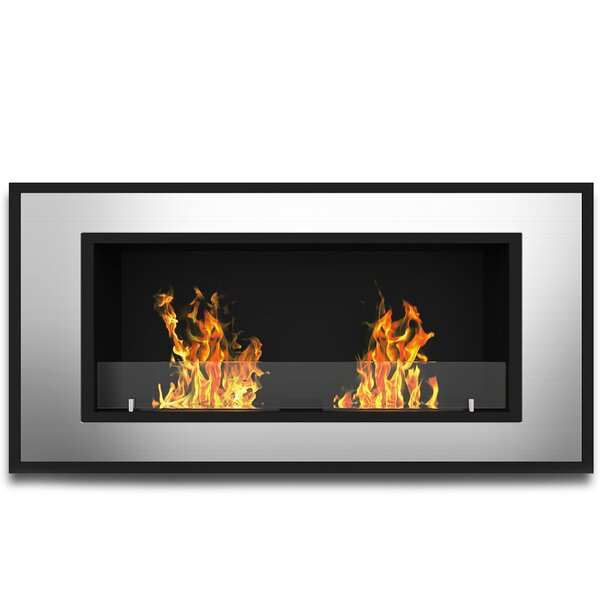 Acosta Wall Mounted Bio-Ethanol Fireplace By Ebern Designs