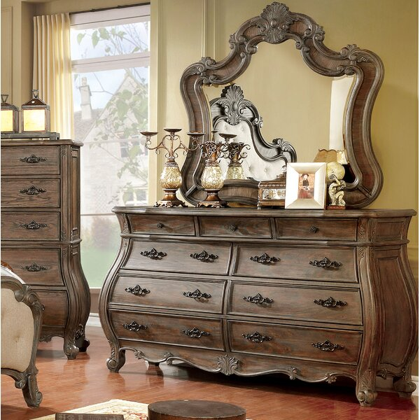 Adorno 9 Drawer Dresser with Mirror by One Allium Way