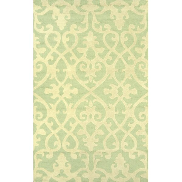 Varanas Hand-Woven Wool Mint Area Rug by nuLOOM