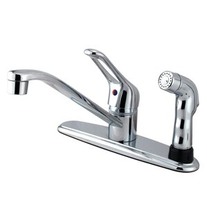 Elements of Design Single Handle Centerset Kitchen Faucet with Deck Side Sprayer