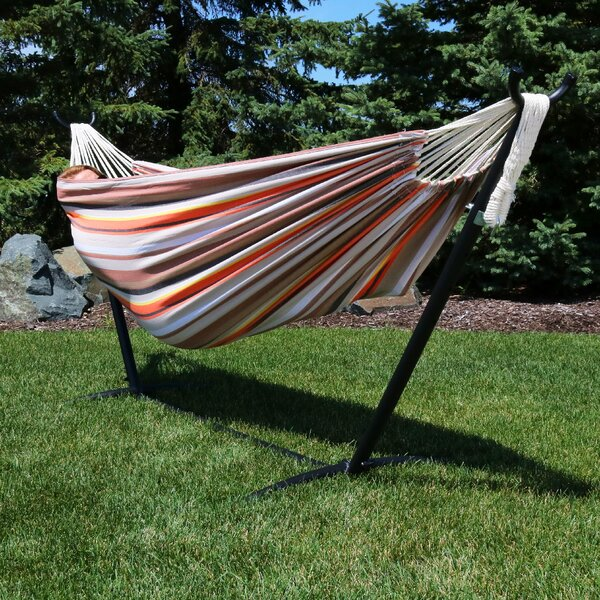 Raymo Cotton Hammock with Stand by Charlton Home