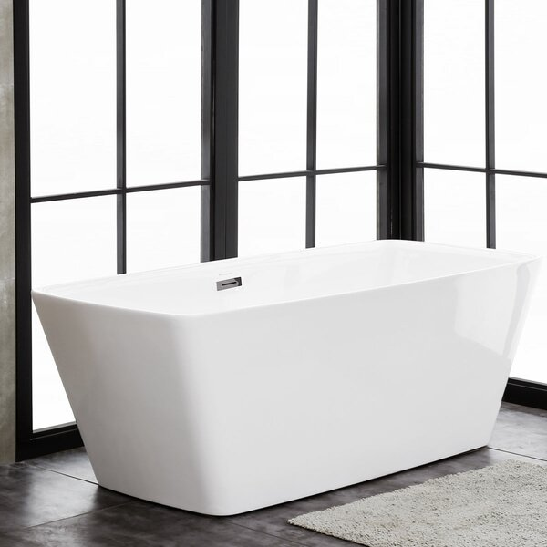 Emma 67 x 30 Freestanding Soaking Bathtub by Finesse