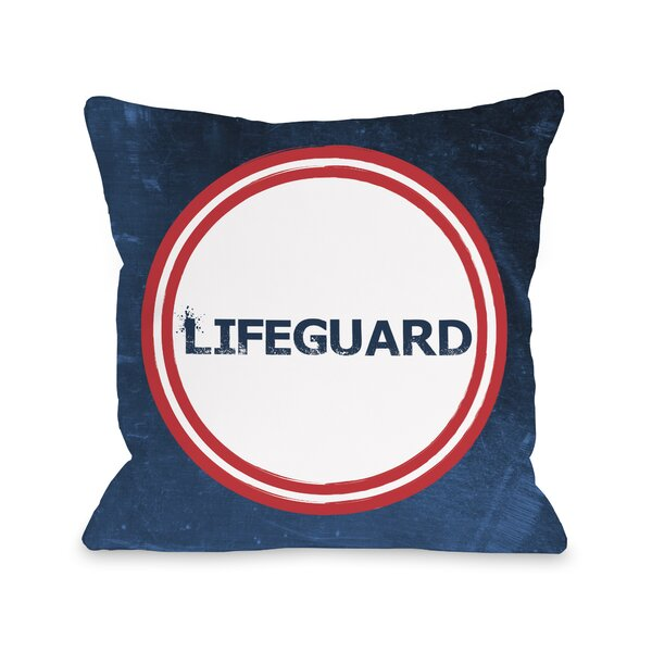 Lifeguard Throw Pillow by One Bella Casa