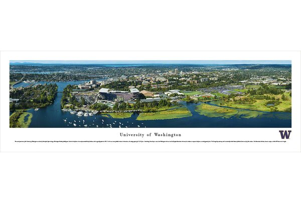 NCAA Washington, University of - Aerial by Christopher Gjevre Photographic Print by Blakeway Worldwide Panoramas, Inc