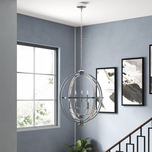 Gluck 9 - Light Candle Style Globe Chandelier by Brayden Studio Brayden Studio