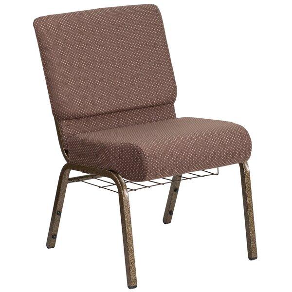 Alvera Book Rack Dot Fabric Guest Chair by Ebern Designs
