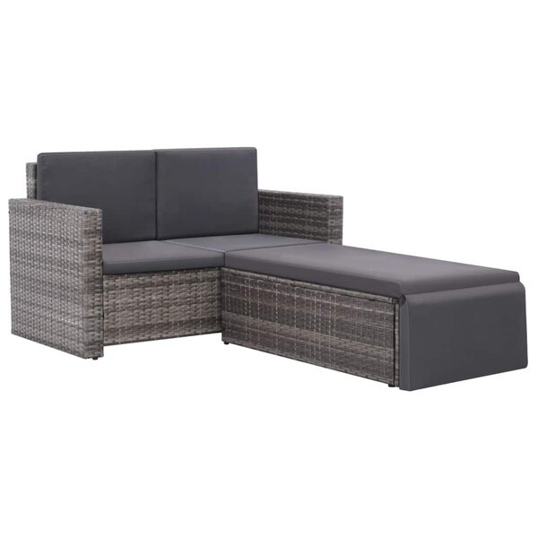 Tetbury Outdoor 2 Piece Sofa Seating Group with Cushions by Ivy Bronx