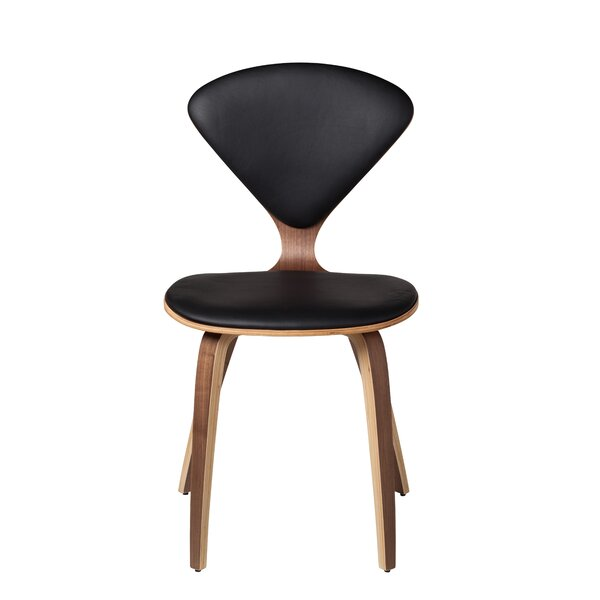 Laurencho Genuine Leather Upholstered Dining Chair By Wrought Studio