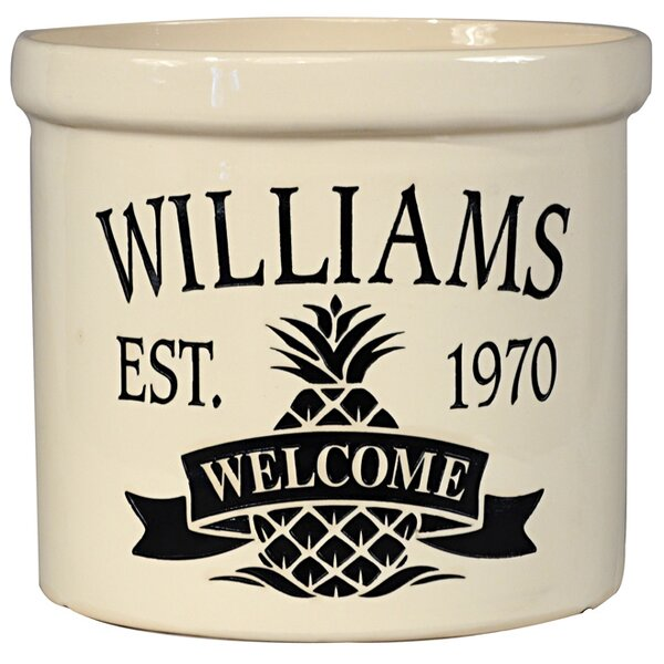 Pineapple Welcome Utensil Crock by Whitehall Products