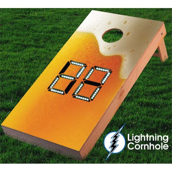 Beer with Foam Cornhole Board by Lightning Cornhole