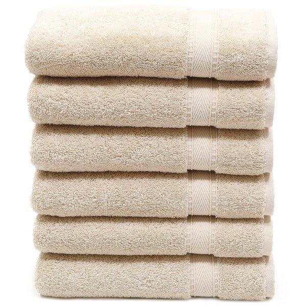 Toscano 6 Piece Turkish Cotton Hand Towel Set (Set of 6) by Latitude Run